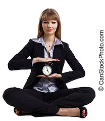 yoga in business - easy time management isolated - Yong...