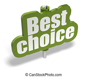best choice green marker over a white background with shadow...