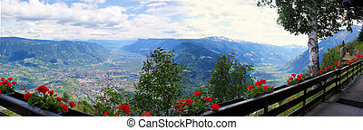 View of Merano and the Vinschgau