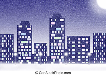 Snowfall in the big city