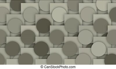 circle and square mosaics pattern