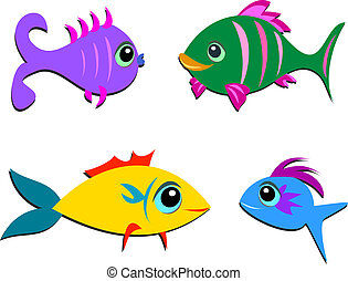 Mix of Different Shaped Fish