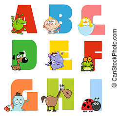 Joyful Cartoon Alphabet Collection - Joyful Alphabet...