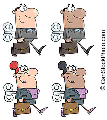 Business People Collection - Business People With Wind-up...
