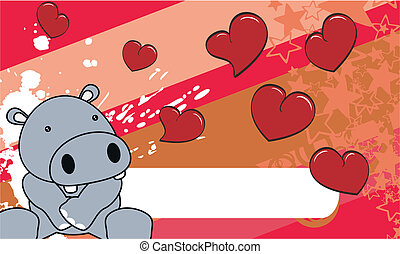 hippo baby cartoon background