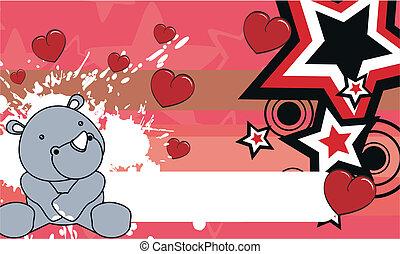 rhino baby cartoon background