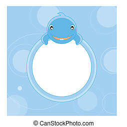 Blue Whale  - Picture frame or text. Blue Whale