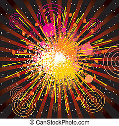 Grunge Explode - Vector retro stylized explode background