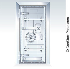 Bank Vault Door scalable vector illustration