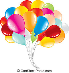 Balloons - Bunch of anniversary balloons-vector illustration