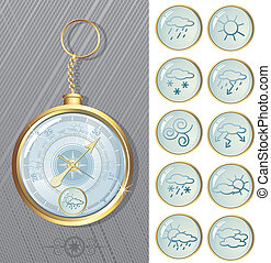 Barometer - Vector barometer with weathers icons