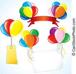 Advertising Balloons - Colorful advertising balloons with...