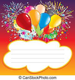 aniversário, cartão