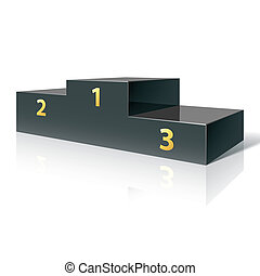 Podium - Vector illustration of a podium for winners