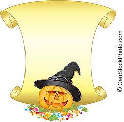 Jack O Lantern - Halloween poster with Jack O Lantern...