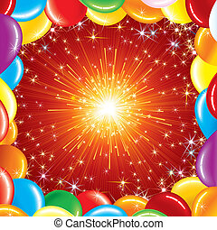 Festive Background - Happy Birthday Background, vector...