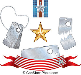Soldier Set - Soldier dog tags and other military elements