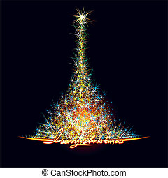 Christmas Stars Tree - Christmas tree - vector design