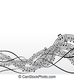 Music background  - Music abstract vector background