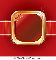 Ruby Belt - Luxury Ruby Belt, vector background for your...