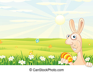 Easter Bunny Backdrop