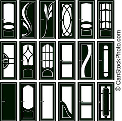 Door forms - Collection of classical doors silhouettes
