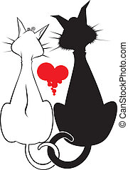 Pair of catsvector graphics