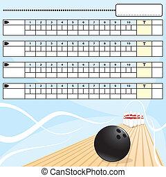 Bowling scoreboard - Empty Bowling scoreboard
