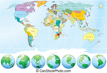 Political World Map - Detailed World Map with all Names of...