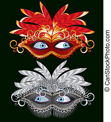 carnival mask - Vector carnival decorative masks
