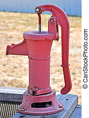 Hand Pump - An Old Fashioned Hand Pump at a Ranch.