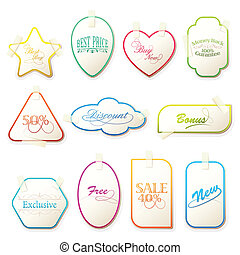 Selling Tag - illustration of set of various selling tag...