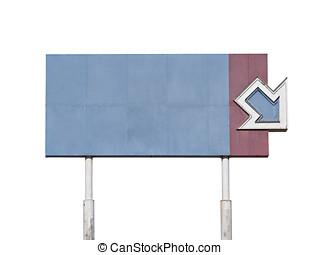 Blank Vintage giant Arrow Sign