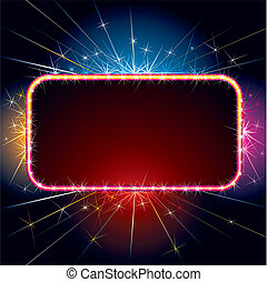 Sparkling Sign - Brightly Sparkling sign for your design and...