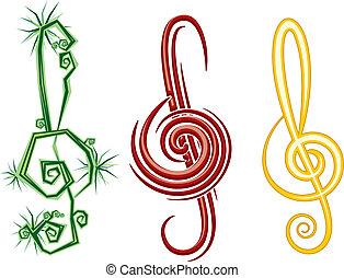 violon, clé