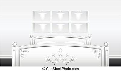 Bedroom. - Bedroom interior is shown in the image.