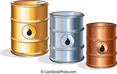 Oil Barrels - Oil barrels, vector icons