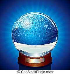 Empty Snow Globe - Classic Snow Globe - vector illustration...