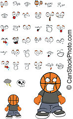 basketball kid cartoon set2