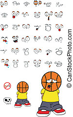 basketball kid cartoon set10