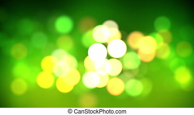 Green bokeh loop