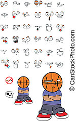 basketball kid cartoon set11