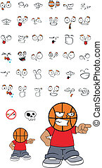 basketball kid cartoon set12