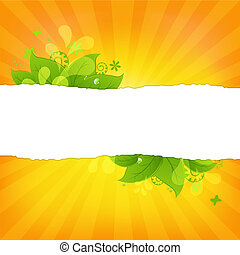 Natural Background With Leaves And Beams