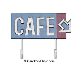 Vintage Generic Cafe Sign.