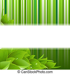 Green Background - Eco Green Background, Vector Illustration...