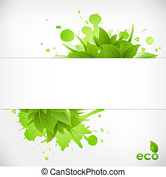 Eco Friendly Background, Vector Illustration