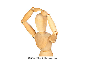 Surprise jointed wooden mannequin