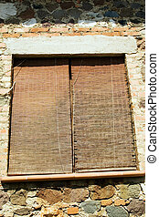 Old blinds of a house