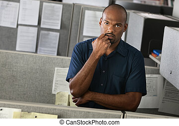 Serious Office Employee